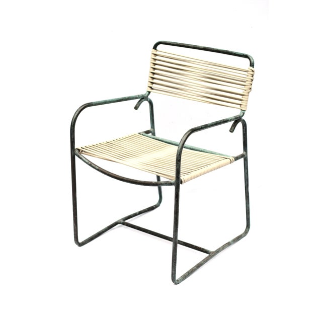 1950s Patinated Bronze Walter Lamp Patio Chairs - Image 1 of 6