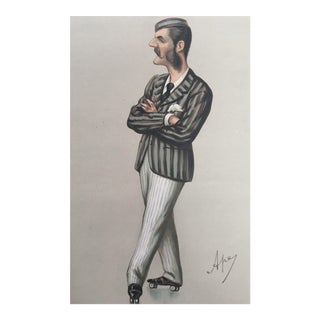 1874 Vanity Fair Roller Skating Print, Herbert Praed