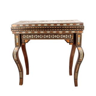 Syrian Inlaid Parquetry Game Table