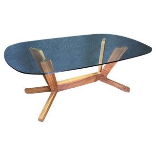 Cantoni Walnut & Glass Dining Table