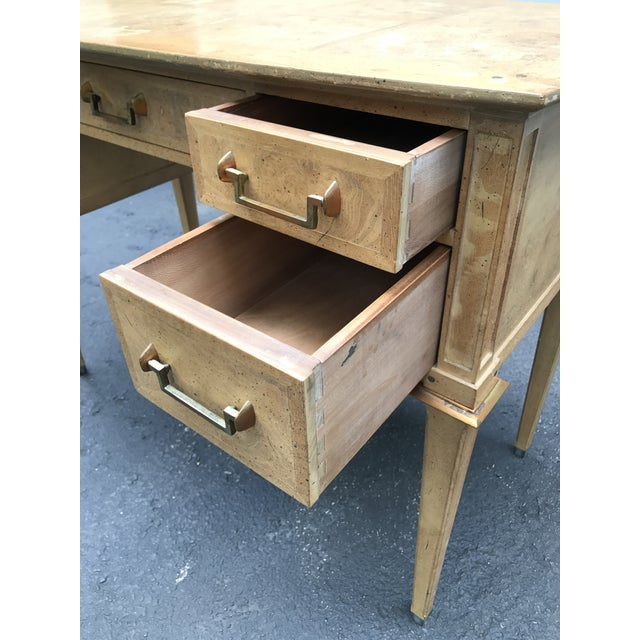 Mastercraft Desk Burled Wood - Image 5 of 11