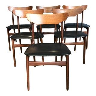 Schionning & Elgaard Danish Modern Dining Chairs - Set of 6