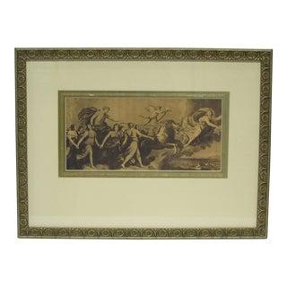 Vintage Sarreid LTD Classical Procession Framed Print