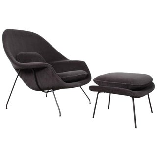 Early Womb Chair and Ottoman by Eero Saarinen for Knoll