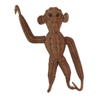 Vintage Wicker Monkey