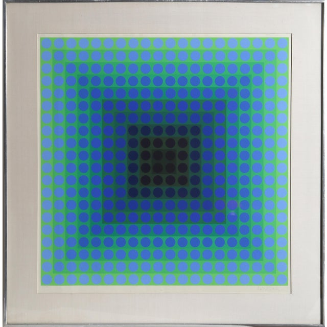 CTA - Blue by Victor Vasarely - Image 4 of 4