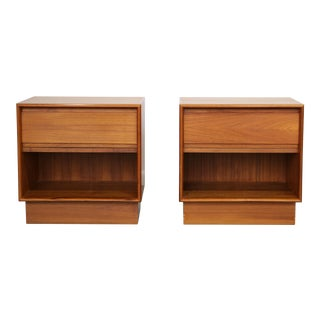 1970's Danish Teak Nightstands - A Pair