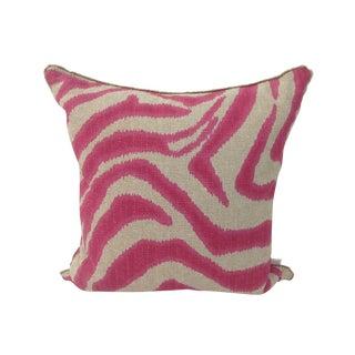 Hot Pink Zebra Throw Pillow