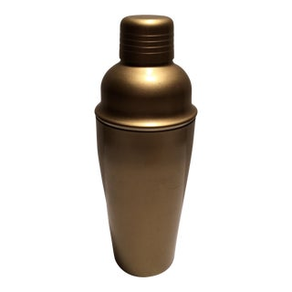 Gold Anodized Stainless Steel Cocktail Shaker