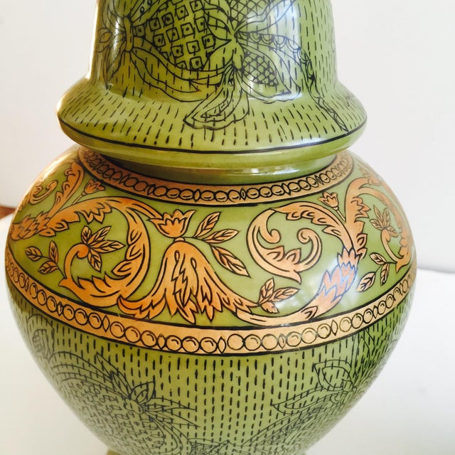 Image of Moss Green Urns - A Pair