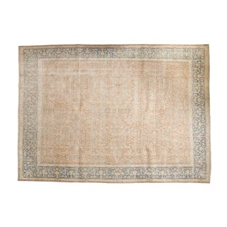 "Vintage Distressed Meshed Carpet- 9'8"" x 13'6"""