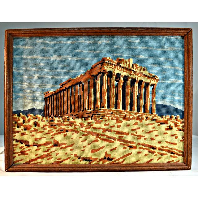 Antique Greek Parthenon Needlepoint - Image 2 of 5