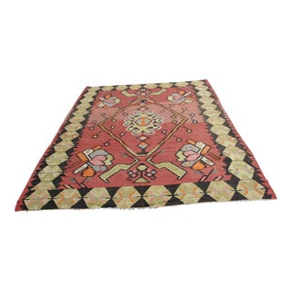 Vintage Turkish Kilim Rug - 7′1″ × 10′11″