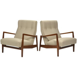 Jens Risom Pair of Lounge Chairs
