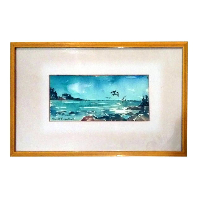 Harriet Ermentrout Seascape Watercolor Painting - Image 1 of 9