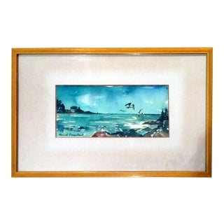 Harriet Ermentrout Seascape Watercolor Painting