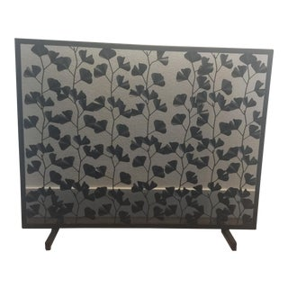Leaf Patterned Fireplace Screen