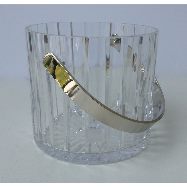 Crystal Faceted Ice Bucket With Chrome Handle - Image 10 of 11