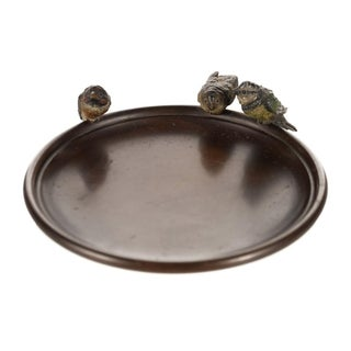 Vienna Bronze 3 Birds Decorative Plate