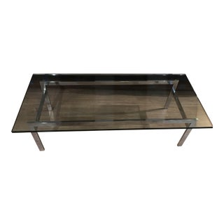 Chrome Coffee Table With Glass Top 'A127'