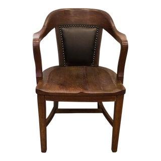 Antique Oak Lawyers Armchair