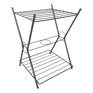 Mid-Century Metal Wire Two-Tiered Shelf