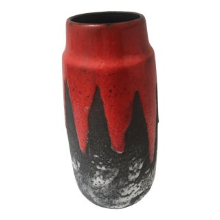 Scheurich West German Fat Lava Cylindrical Vase