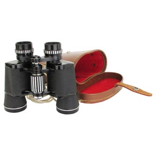 Mid-Century Binoculars with Leather Case
