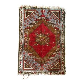 Antique Turkish Oushak Rug - 1′7″ × 2′