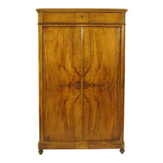19th C. Biedermeier Walnut Armoire