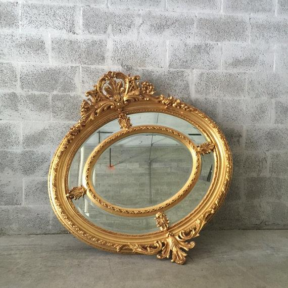 Antique French Louis XVI Gilded Wood Oval Mirror - Image 2 of 6