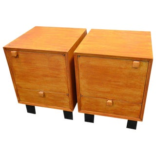 Bedside Tables / Nightstands Designed by George Nelson for Herman Miller -- A Pair