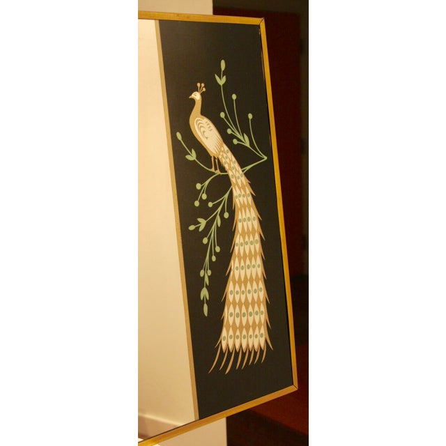 Peacock Embellished Mirror with Slim Gold Frame - Image 5 of 10