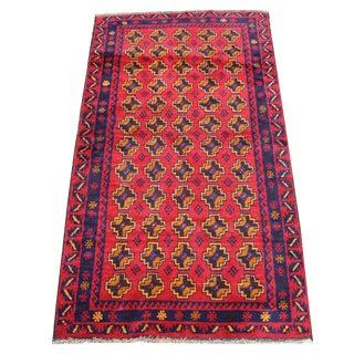 "Handmade 100% Wool Tribal Rug - 3' 5"" x 6' 1"""