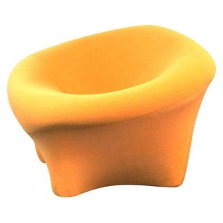 Vintage Modern Orange Biomorphic Lounge Chair