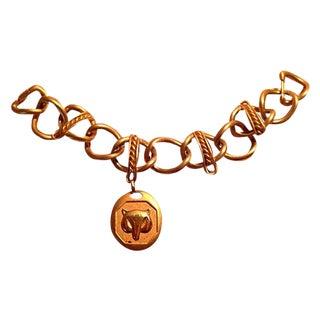 1970s Monet Gold Chain Fox Bracelet