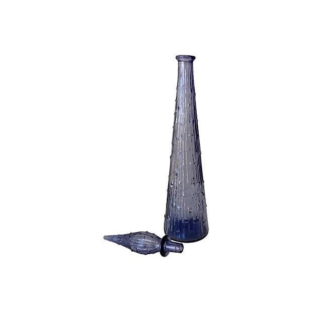 Italian Hand Blown Amethyst Vase With Stopper - Image 2 of 4