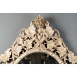 Image of Large 1930's French Beveled Oval Mirror With Carved Grape Vines