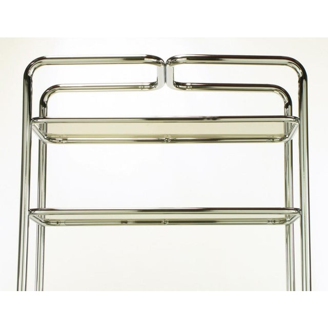 Tubular Chrome & Smoked Glass Five Shelf Etagere. - Image 8 of 10