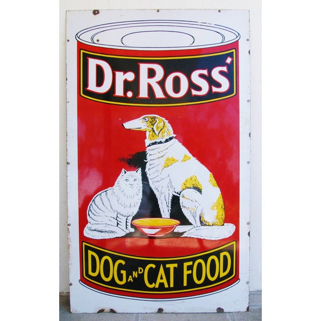 Image of 1930s Dr. Ross Dog & Cat Food Advertising Sign
