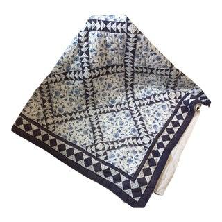 Vintage Hand Stitched Diamond Queen Quilt