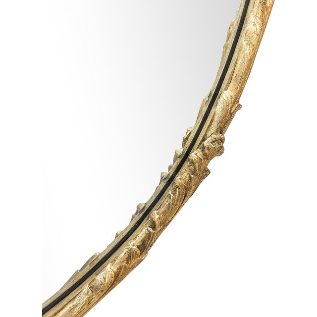Oversized Hand-Carved Gold Mirror - Image 8 of 10