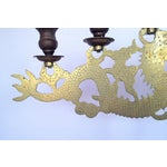 Image of Solid Brass Dragon Candelabra