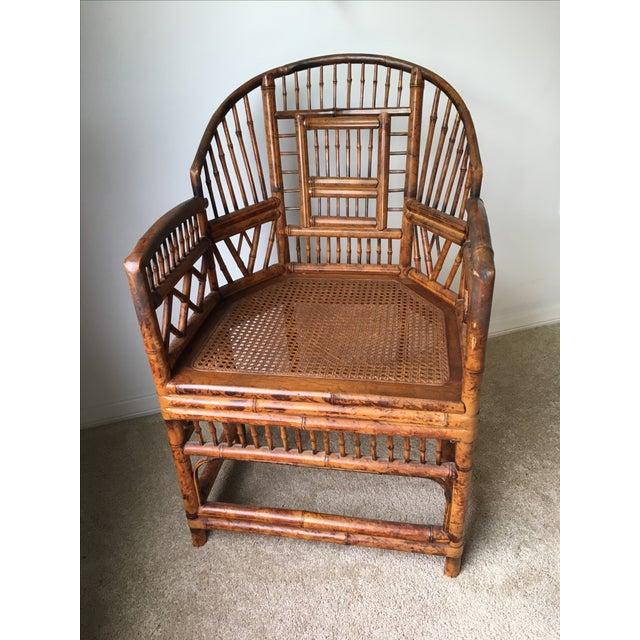 Brighton Bamboo Rattan Chair Chairish