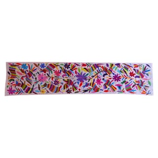 Multicolored Tenango Table Runner