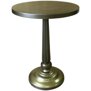 Iron & Aluminum Round Side End Table