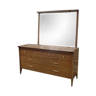 Drexel Mid Century Profile  Dresser & Mirror