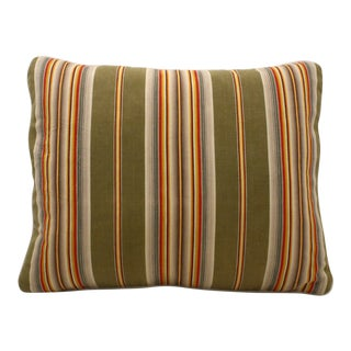 French Ticking Shell & Cotton Pillow