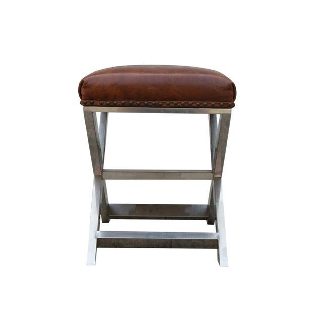 Pasargad Paris Club Leather Bench - Image 4 of 4