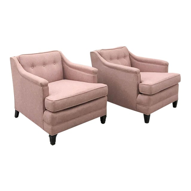 Mid-Century Transitional Club Chairs - A Pair - Image 1 of 8